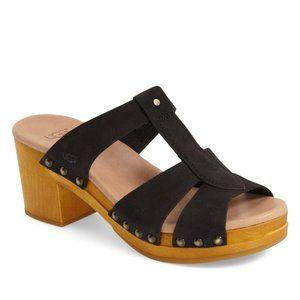 UGG Jennie T-Strap Clogs Sandals Black Size 7 NEW